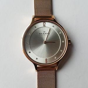 Skagen rose gold mesh watch stainless steel watch
